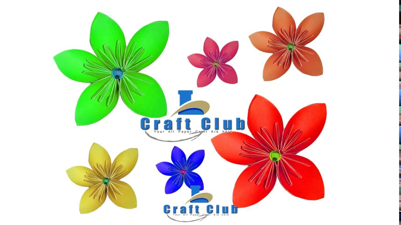 How To Make Origami Paper Flowers Tutorial Learn With Linas Craft Club