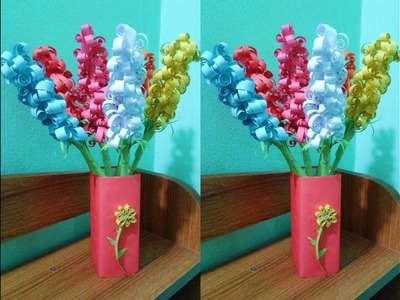 How to make paper flowers art and craft?  paper flowers DIY.