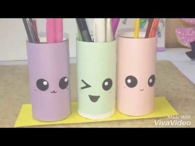 How to make pen holder cute diy to do when bored 5 minutes craft