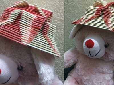 How to make Popsicle Stick Hat | Popsicle Stick Craft | Ice Cream Stick Craft
