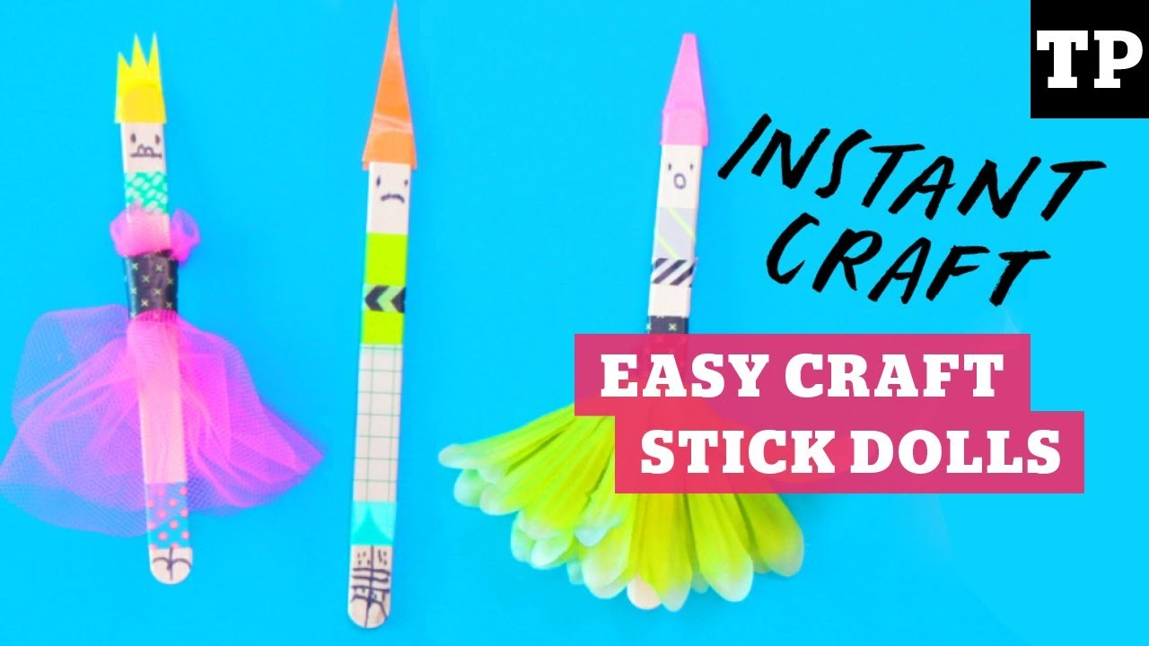 How to make simple craft stick dolls