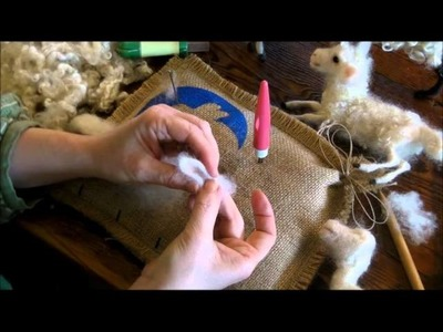 How to Needle Felt:  Sheep and Lamb 5 by Sarafina Fiber Art