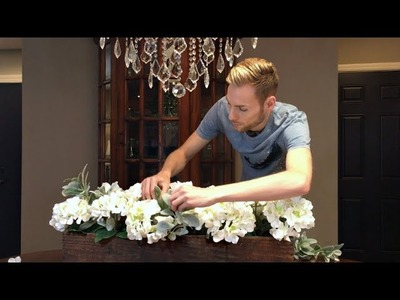 Hydrangea Floral Arrangement - DIY Elegant Rustic Centerpiece - Summer Decorating