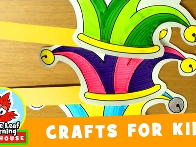 Jester Paper Hat Craft for Kids | Maple Leaf Learning Playhouse