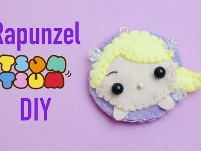 Kawaii DIY: Easy Disney Princess DIY Craft | Rapunzel TsumTsum Inspired! (Rapunzel Felt DIY)