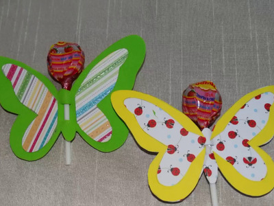 Lollipop craft-DIY lollipop butterfly.How to make tutorial.