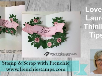 Lovely Laurel Pop Up Card