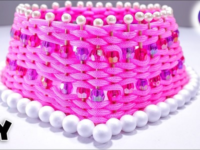 Macrame ideas | how to make basket from waste macrame | Best out of waste | Artkala 246