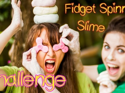 MAKING SLIME WITH FIDGET SPINNERS FOR HANDS | CRAFT CHALLENGE
