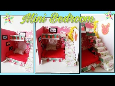 Mini Bedroom Tutorial. Best out of waste. Match Box craft