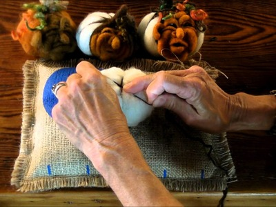 Needle Felted Pumpkin Tutorial 1: The Body by Sarafina Fiber Art