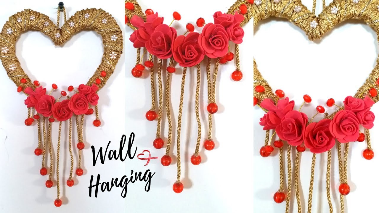 New Heart Wall Hanging Craft Ideas Easy Wall Decoration