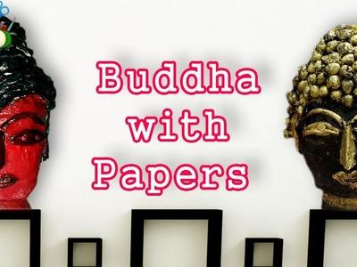 Newspaper Buddha with paper ll DIY Craft Ideas
