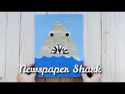 Newspaper Shark Craft for Shark Week