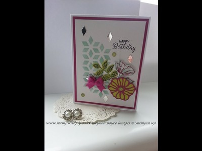 Oh so eclectic simple elegant card stampin up
