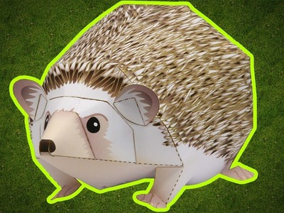 Paper Craft | How To Make Paper Four-toed Hedgehog | Pet Series - Animals