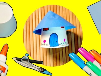 Paper Cup House | Craft Ideas | Little House