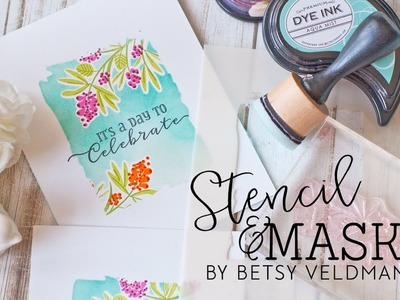 Papertrey Ink Make It Monday #290:  Combining Stenciling and Masking