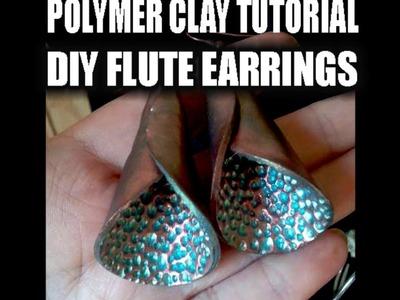 Polymer clay tutorial - DIY flute earrings