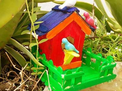 Pop Sticks Bird House II DIY Craft Ideas - diy popsicle stick birdhouse