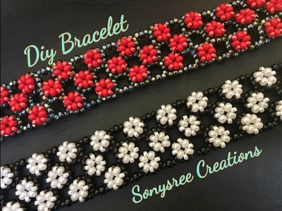 Right Angle Weave Embellished Bracelet ( Easy to Follow Tutorial) ????????❣️