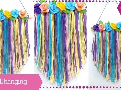Simple and Easy Wall Hanging Craft Ideas for Kids Using Woolen Thread by Maya Kalista !