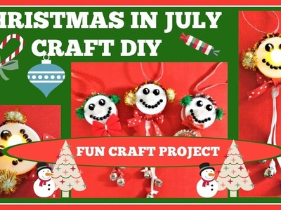 SNOWMAN TEALIGHT ORNAMENT. Christmas in July DIY Craft Tutorial