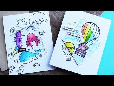 Spotlight Die Cut Coloring + Blog Hop!