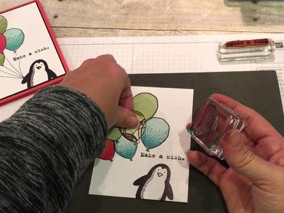 Stampin Up Balloon Celebration Make a Wish Card