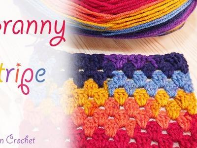 Super Easy Crochet: Granny Stripe Blanket. scarf