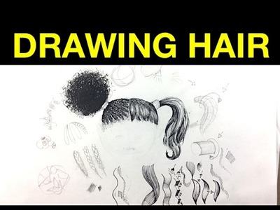 Tips on drawing hair with Pen & Ink