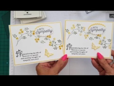 Two colour stamping, Sympathy Card, Case Card Class #82 Stampin up Stamps.