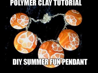 083-Polymer clay tutorial - DIY simple and fun summer pendant