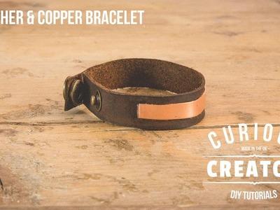 #11 Leather & Copper Bracelet DIY Tutorial