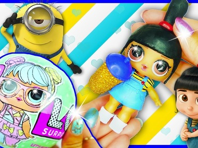 AGNES MINIONS LOL Surprise Custom Doll Series 2 DIY | Toy Tutorial | Lil Outrageous Littles