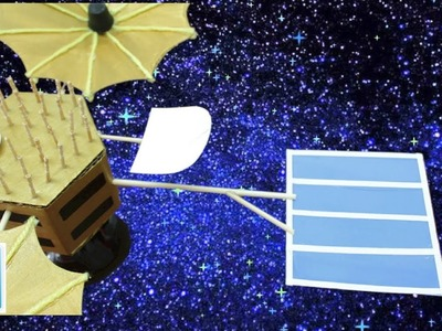 Art and Craft Ideas for Kids DIY Project: How to Make a Satellite Challenger STS 6) with Cardboard