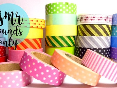ASMR washi tape DIY sounds only: tingly tutorial for relaxation