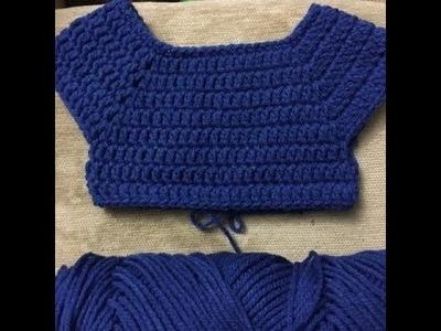 Baby dress - standard bodice 3 - easy, handmade, diy - crochet tutorial - Tamil