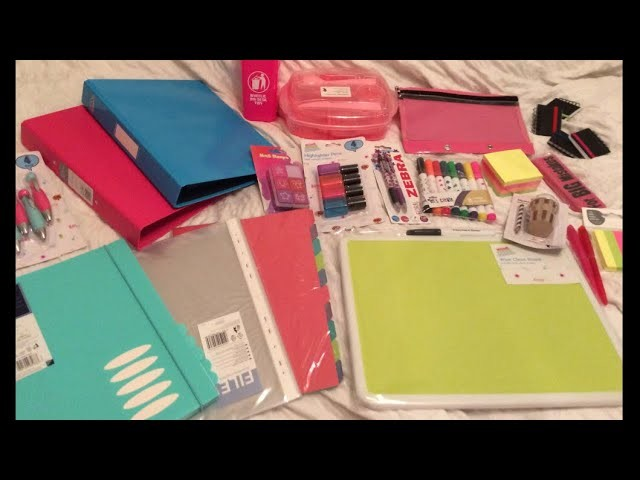 Back to school stationary supplies UK craft haul Wilko Tesco Tiger Poundland Pound World shopping
