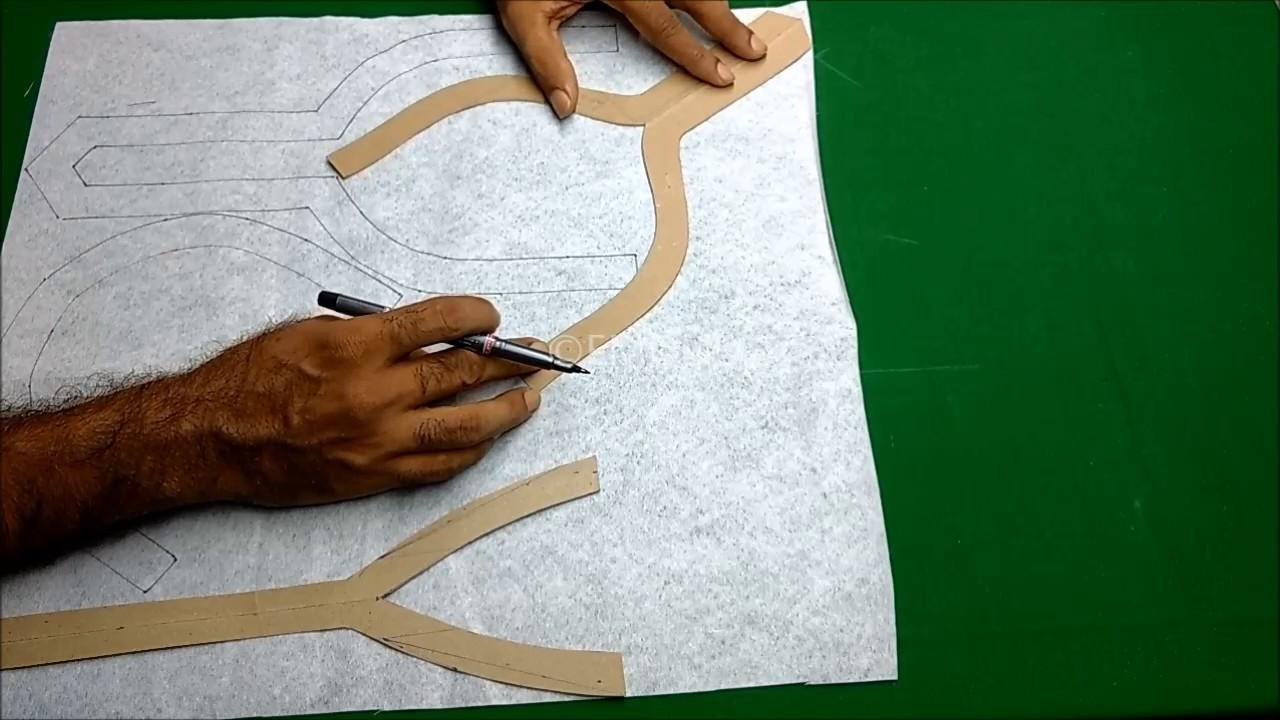 Basic neck design cutting tips for beginners  DIY tutorial മലയാളം, Basic neck pattern malayalam