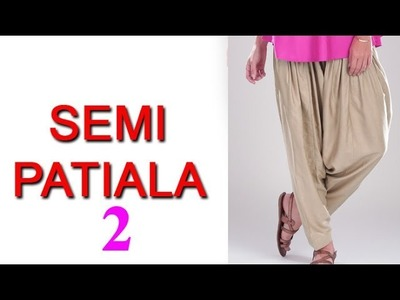 Basic Tips for Salwar pant Cutting DIY tutorial hindi, semi patiala pant cutting easy method part2