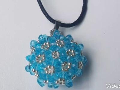 Beaded pendant free tutorial. pendentif perles.cevşen yapımı DIY