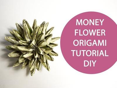 Big Money Flower Origami Dollar Folded Tutorial DIY No glue