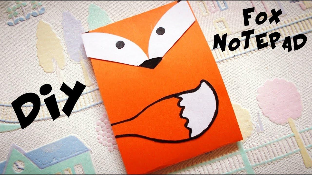 COOL BACK TO SCHOOL SUPPLIES: DIY FOX NOTEPAD | Easy paper craft | MAISON ZIZOU