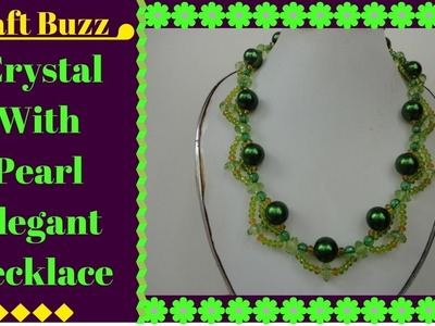 # Crystal With Pearl Elegant Necklace # DIY Project # How To Make Video Tutorial