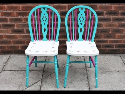 Decoupage refurbished chairs - Fast & Easy Tutorial - DIY