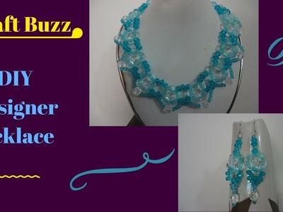 Designer Necklace and earrings -- DIY -- How To Make At Home Tutorial