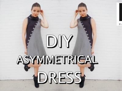 DIY Asymmetrical Dress   sewing tutorial #1