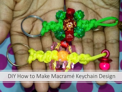 DIY Beautiful Macrame Keychain Design | DIY simple Macrame Keychain || Micrame Keychain Tutorial