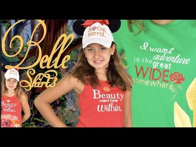DIY Belle Inspired Shirts from Beauty and The Beast with the Cricut
